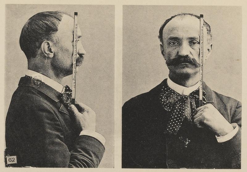 Судебная фотография с антропометрической классификацией - 1890
